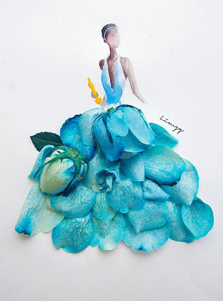 本物の花で描いたアートが華やかで癒される!!の画像(5枚目)