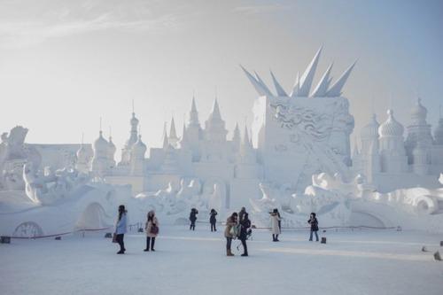 中国の雪祭りの画像(9枚目)