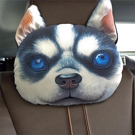 動物の顔の自動車用の枕の画像(5枚目)