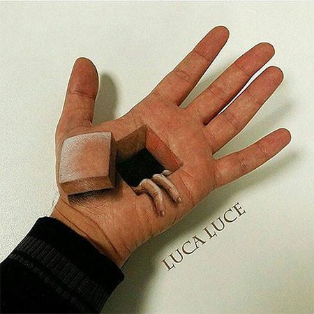 左手がオシャカになっちゃた!3Dアートですごい事になってる左手の画像の数々!!の画像(7枚目)