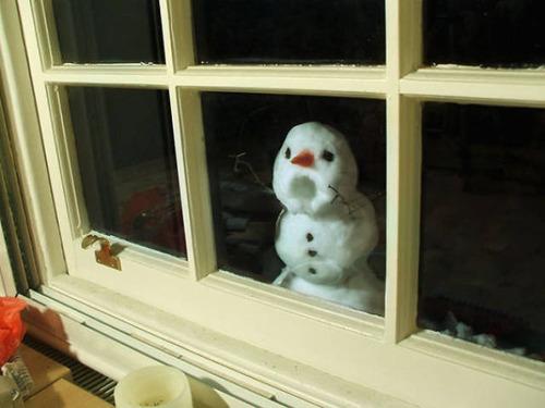 面白い雪だるまの画像(12枚目)