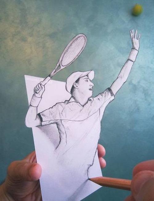 紙で作った3Dアートの画像(23枚目)