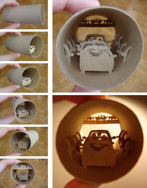 【面白アート】トイレットペーパーの芯で作る不思議な世界!の画像(15枚目)