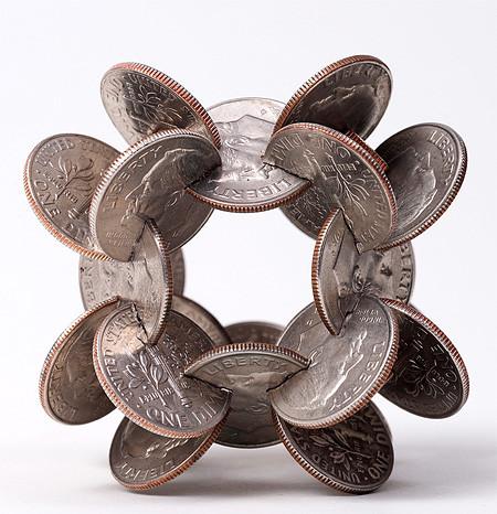 【画像】もったいないけど凄い!コインを使った面白アート!の画像(6枚目)