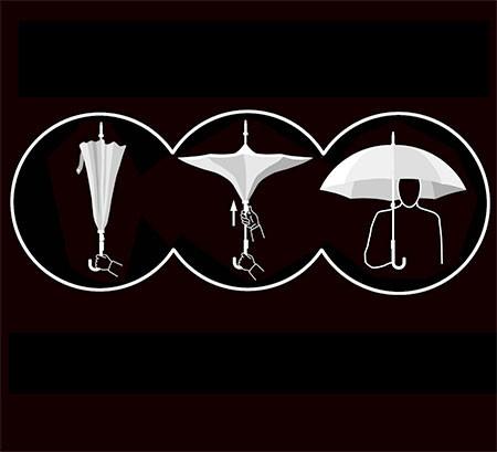 裏表が逆に折りたためる傘の画像(9枚目)