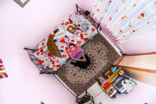 世界各国の人達のベッドルームの画像(14枚目)