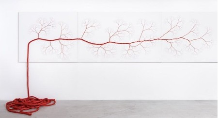 ロープをほぐして作った樹木07