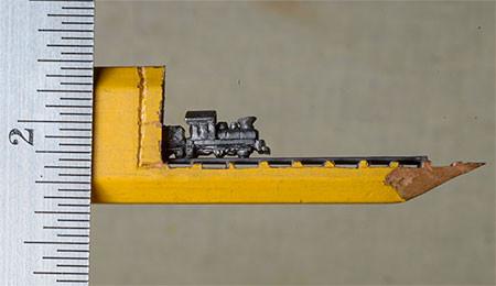画像】鉄道模型のように鉛筆を加工したアートが凄い!!の画像(7枚目)