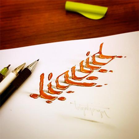 ノートにペンだけで描いた3Dの文字が凄い!!の画像(15枚目)