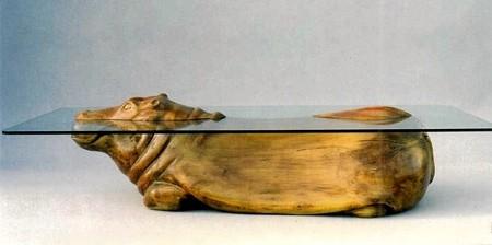 水辺に浮かぶ生物達のテーブル01
