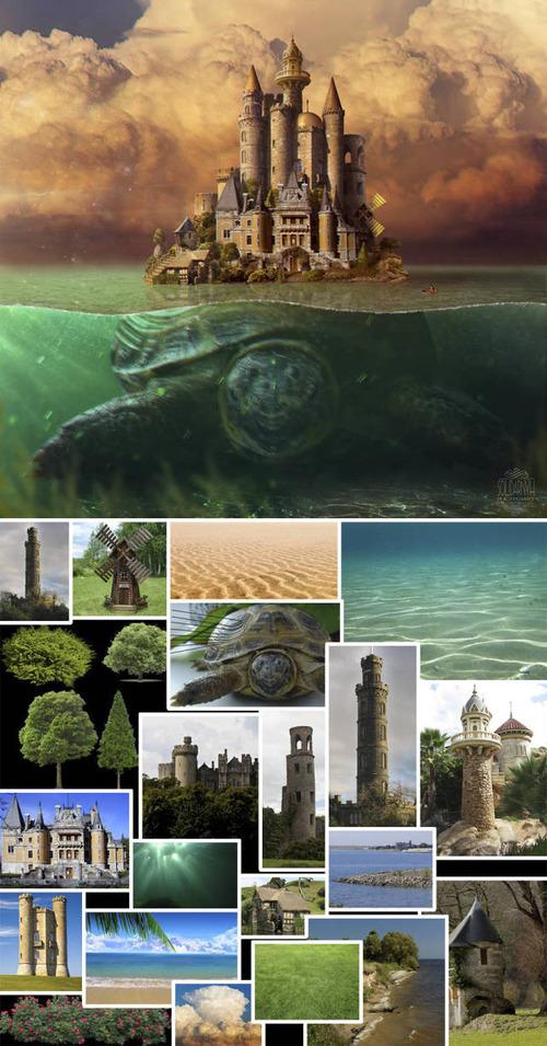 合成写真の素材をまとめた比較の画像(2枚目)
