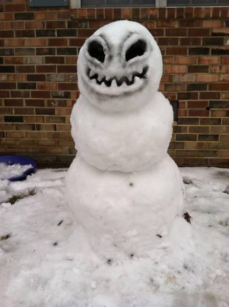 面白い雪だるまの画像(42枚目)