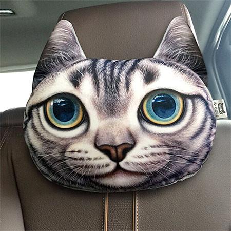 動物の顔の自動車用の枕の画像(4枚目)