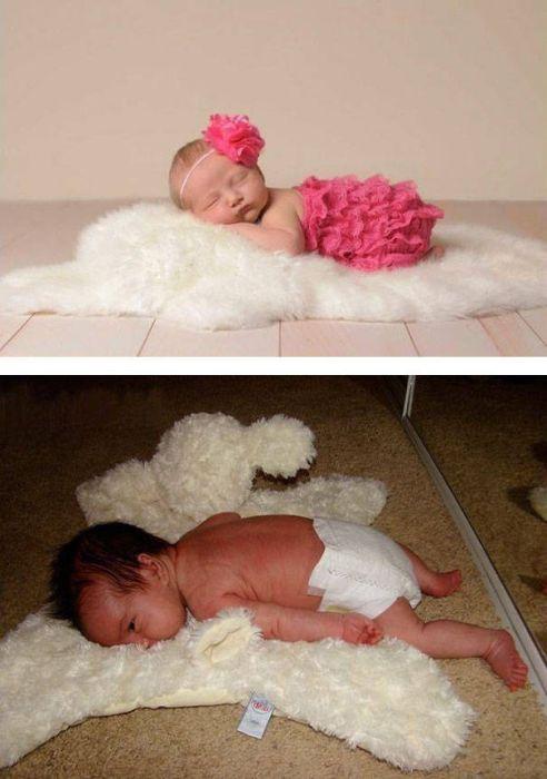 赤ちゃんとの記念撮影の理想と現実の画像(5枚目)