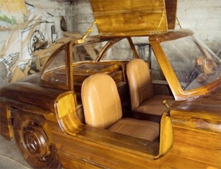 木製のメルセデス・ベンツ08