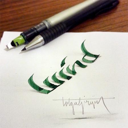 ノートにペンだけで描いた3Dの文字が凄い!!の画像(16枚目)