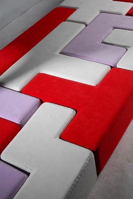 テトリスのブロックでできたソファー03