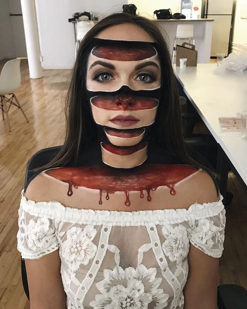 美人なのに怖すぎるフェイスペイントの画像(2枚目)