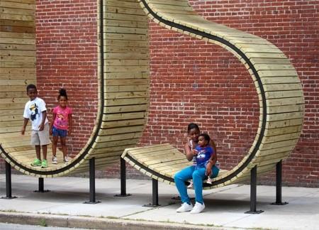 バス停のベンチ03