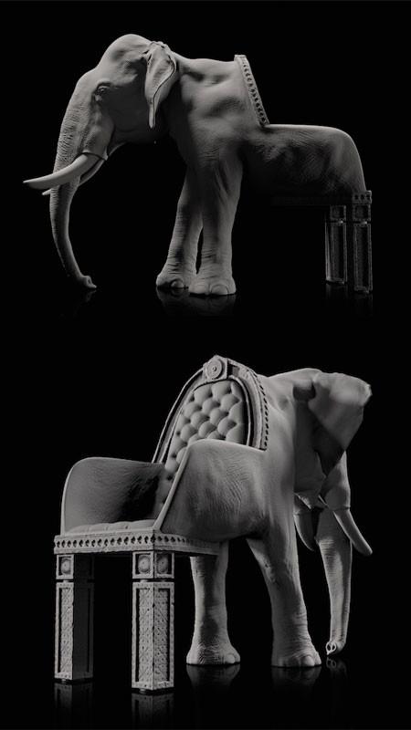 まるで本物!超リアルな動物の椅子が凄いwwwの画像(3枚目)