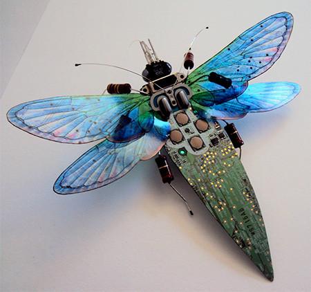 今にも動き出しそう!ちょっとリアルな電子部品でできた昆虫!!の画像(15枚目)