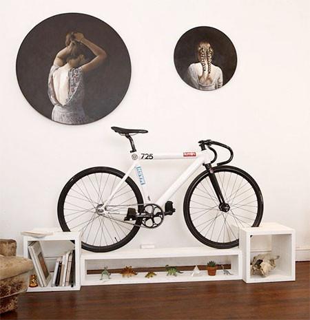 ちょっとした工夫で自転車の収納がカッコよくなる!の画像(2枚目)
