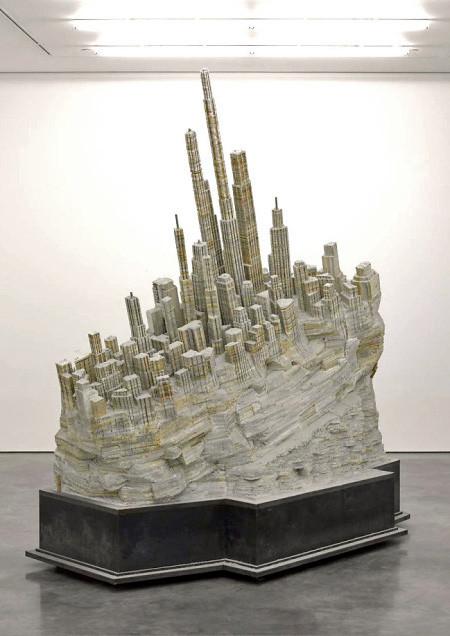 本で作られた大都市のジオラマの画像(10枚目)