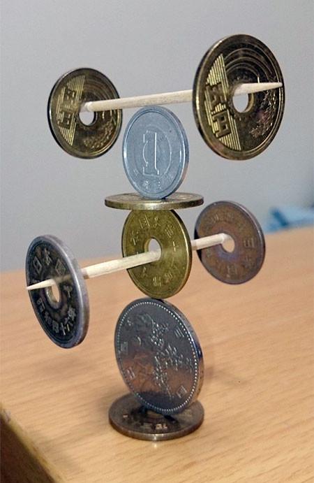 コインを積み上げてバランス15