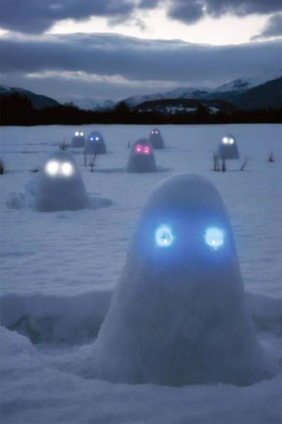 面白い雪だるまの画像(26枚目)
