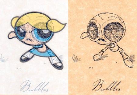 アニメや漫画のキャラクターの骨格のイメージ画像が凄いwwwの画像(5枚目)
