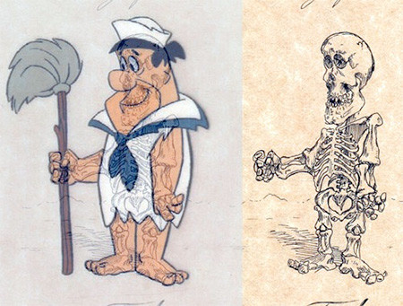 アニメや漫画のキャラクターの骨格のイメージ画像が凄いwwwの画像(4枚目)