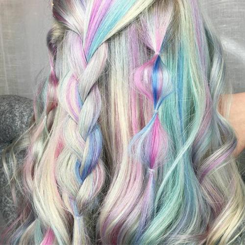 虹のような髪の毛の女の子の画像(17枚目)