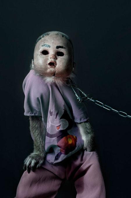 【画像】サルにマスクを被せたら凄まじく怖くなったwwwの画像(10枚目)