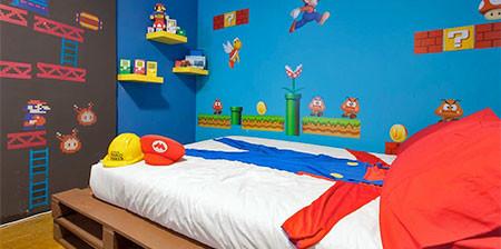 部屋一面スーパーマリオの画像(1枚目)