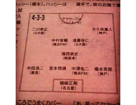 宮本が一緒にプレーした選手のベスト11が興味深い