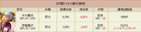 京極さん★5部隊・・・レベル1アップ