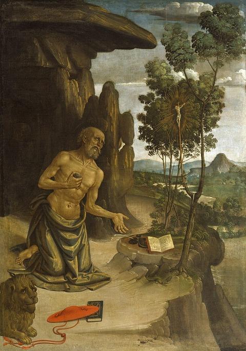1475-80 砂漠の聖ヒエロニムスBernardino_Pinturicchio
