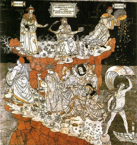 1505-シエナの揺り椅子、知恵の丘の寓意