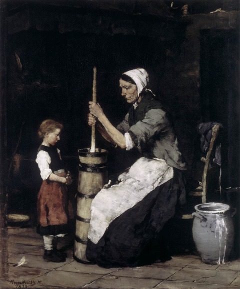 1872-73 Churning Woman攪乳する女