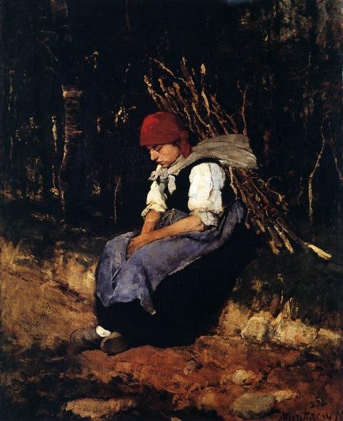 1873 Woman with bush wood