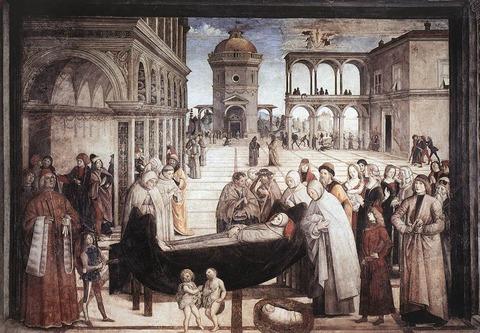 1484-86  Pinturicchio.聖ベルナルディーノの死