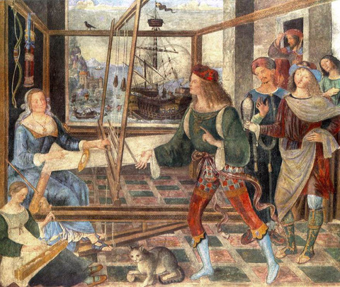1509  Pinturicchio,_オディッセウスの帰還