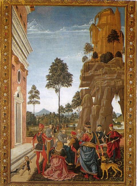 1473木の下で死んだ男の魂を呼び出す聖ベルナルディーノ