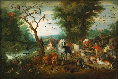 ノアの箱舟に乗る動物たち ヤン・ブリューゲル