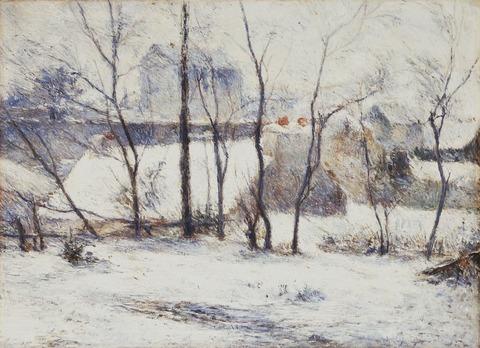 雪の庭 ゴーギャン
