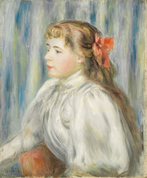 少女の肖像 ルノアール