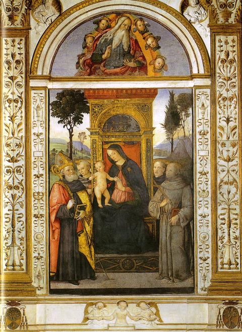 1482-92  -Pinturicchio玉座の聖母