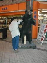 クマを攻撃する番長