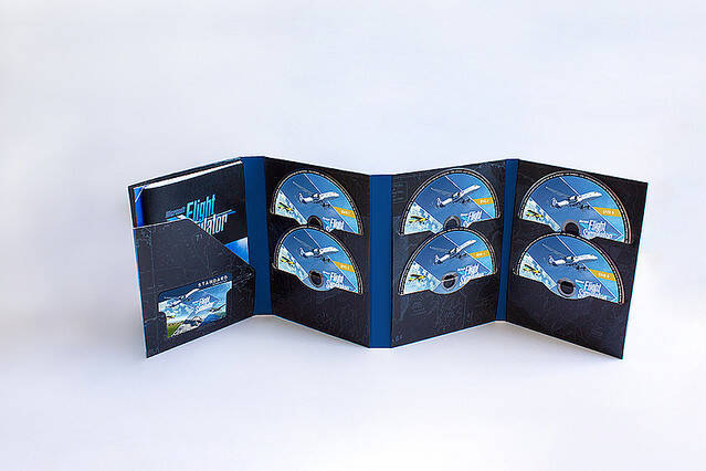 Microsoftの「フライトシミュレーター2020」、物理ディスクは10枚組