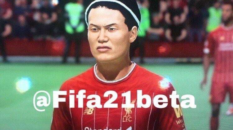 FIFA21の南野拓実さん、とんでもない顔に設定されてしまう